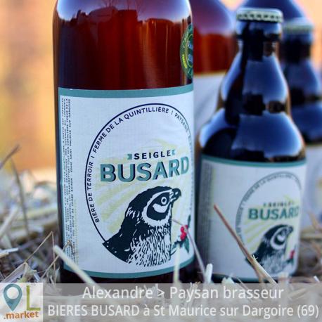 Bière de terroir BUSARD au seigle 75cl