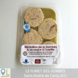 Médaillon de la Dombes & sa sauce à l'oseille (4 pièces soit 220G)