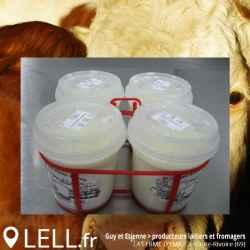 Yaourts  au lait de vache entier aux arômes naturels de fruits (Par 4)