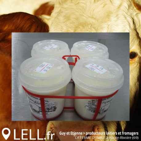 Yaourt aux fruits au lait Entier (Par 4)