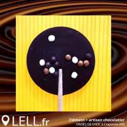 Sucette au chocolat noir