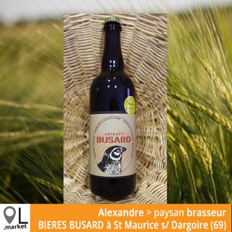 Bière de terroir BUSARD Stout 75cl