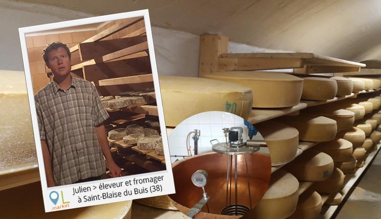 Julien Boulord, éleveur et fromager dans l'Isère